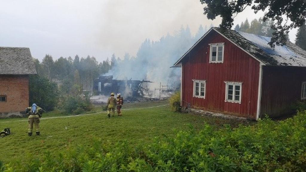 villabrand i Gröttvål Gunnarskog
