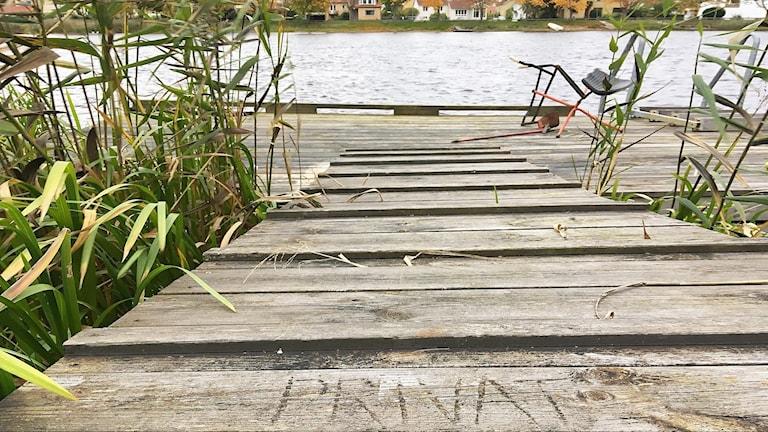 Brygga vid Romstad i Karlstad. Foto: Per Larsson/Sveriges Radio.