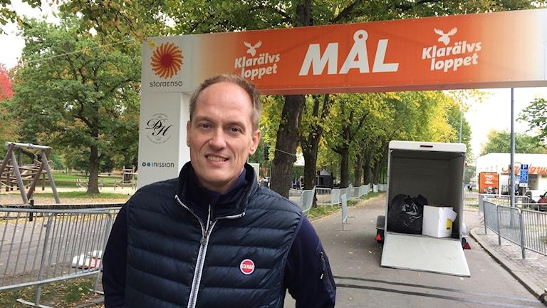 Glenn Olsson. VD Klarälvsloppet. Karlstad. Foto: Robert Ojala/Sveriges Radio