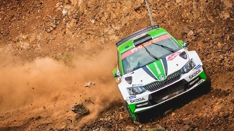 Pontus Tidemand fick bryta i Rally Turkey. Foto: World.
