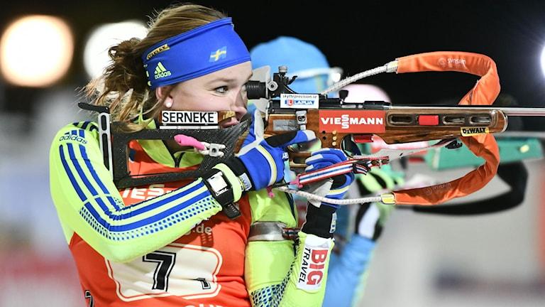 Skidskytten Linn Persson. Foto: Robert Henriksson/TT.