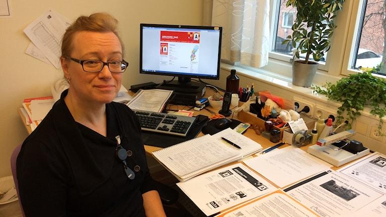 Kristina Hellberg arkivarie i Sunne kommun.