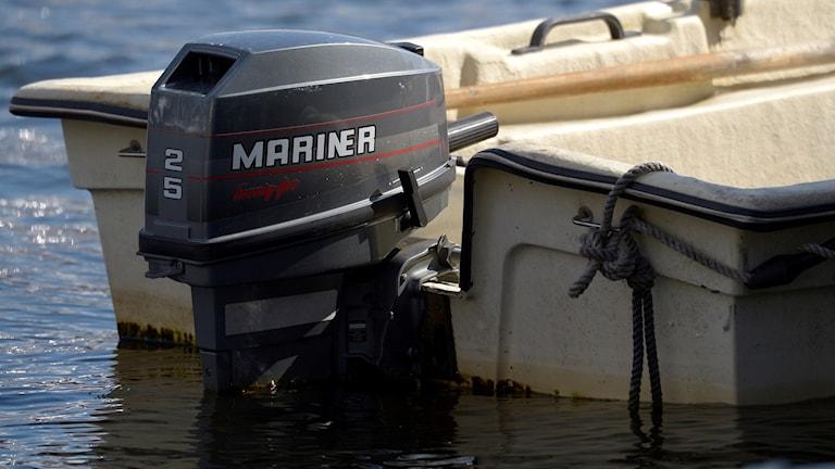 En båtmotor. Foto: Janerik Henriksson/TT