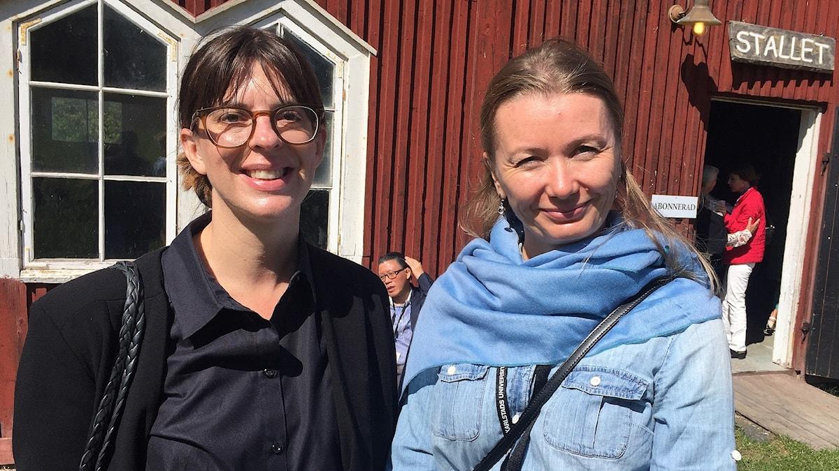 Sofia Wijkmark och Polina Lisovskaya. Foto: Jonathan Borg/Sveriges Radio.