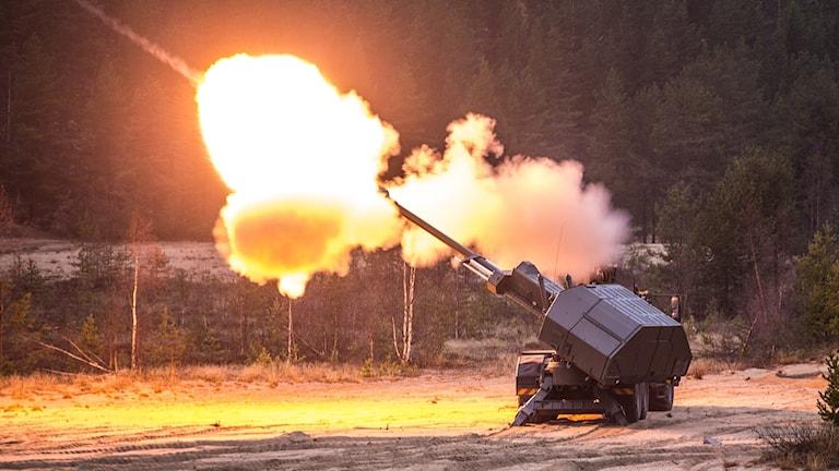 En skjutande Archer. Foto: Cecilia Egefjord Ågren/Försvarsmakten.