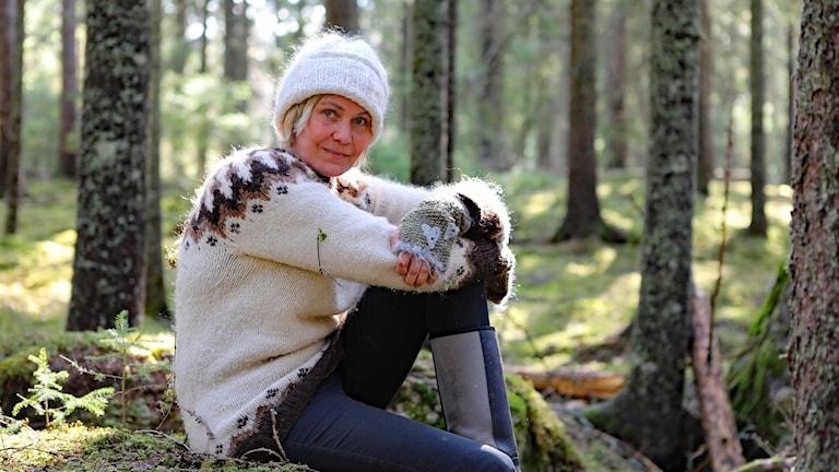 Maria Westerberg Vildhjärta, konstnär. Foto: Örjan Bengtzing/Sveriges Radio.