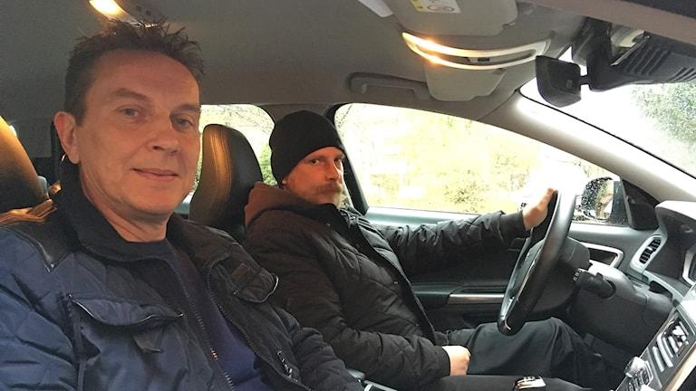 Ulf Marpurg och Andreas Collander. Foto: Per Larsson/Sveriges Radio.