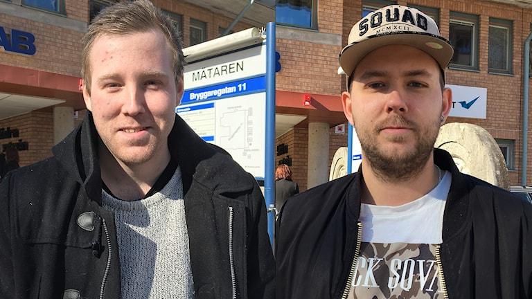Robin Dahlén och Christian Karlsson. Foto: Sara Johansson/Sveriges Radio.