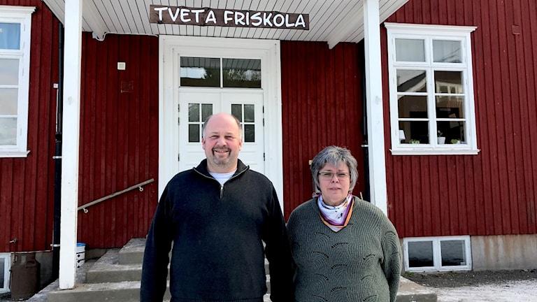 Hans-Erik Blidstam/ordförande Tveta Friskola, Maria Svantesson/rektor Tveta Friskola sedan 1 januari 2019