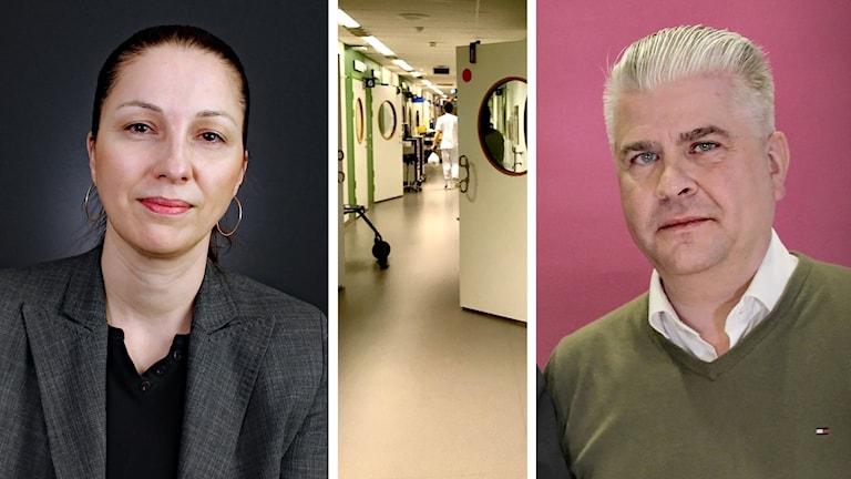 Ljubica Jasic Modin, Sverigedemokraterna, och Fredrik Larsson, moderaterna. Foto: Sveriges Radio.