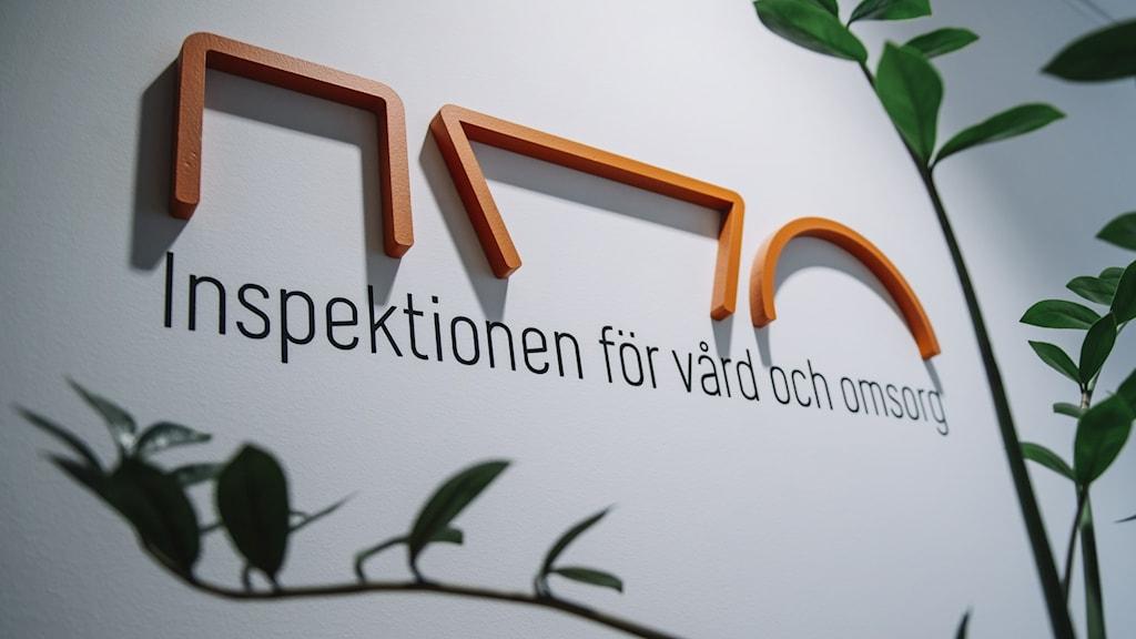 """Logga """"Inspektionen för vård och omsorg"""". Foto: Stina Stjernkvist/TT"""