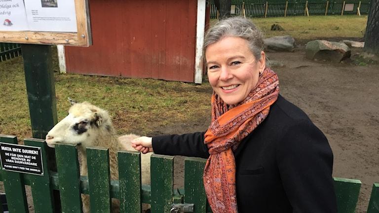 Anna Lööf Falkman, vd för Mariebergsskogen. Foto: Robert Ojala/Sveriges Radio.