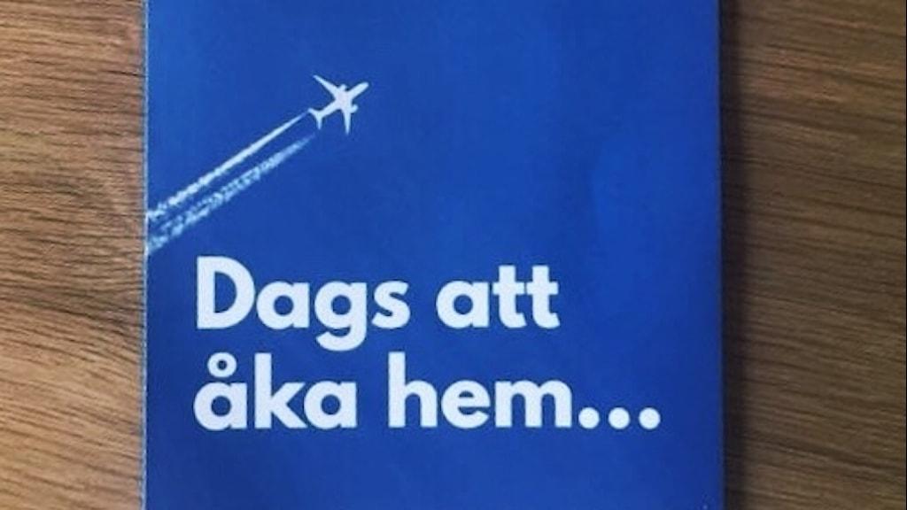 Flygblad från Alternativ för Sverige. Foto: Privat.