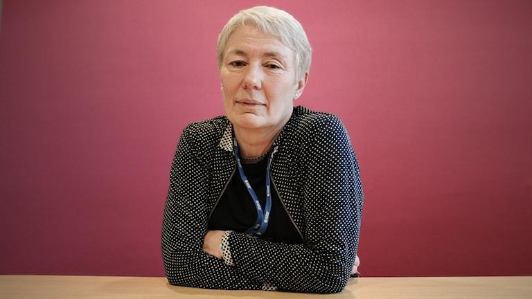 Christina Ledin. Foto: Lars-Gunnar Olsson/Sveriges Radio.