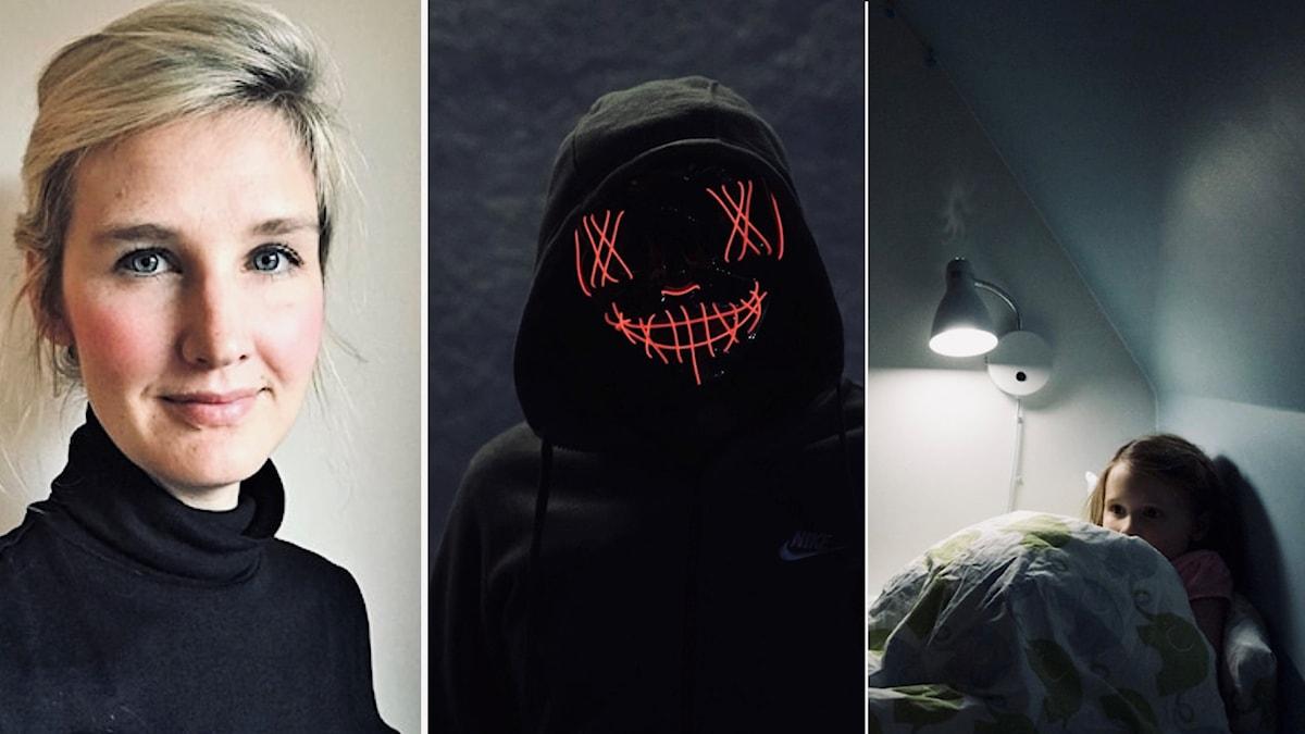 split kvinna monster och barn