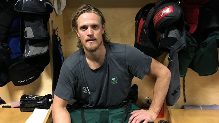 Lagkapten Magnus Nygren efter matchen. Foto: Daniel Viklund/Sveriges Radio.