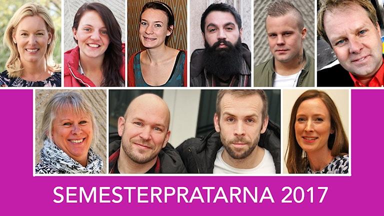 Här presenteras 2017 års semesterpratare i P4 Värmland