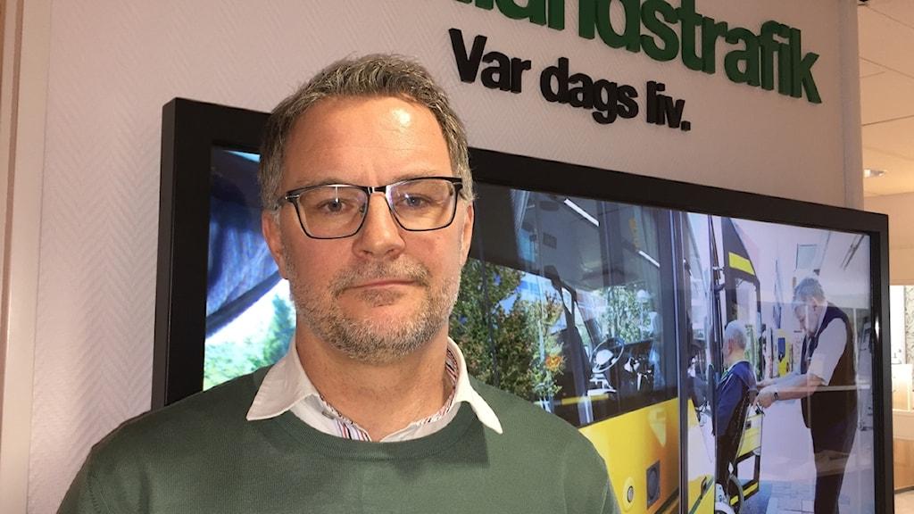 Anders Wahlén, trafikservicechef på Värmlandstrafik.