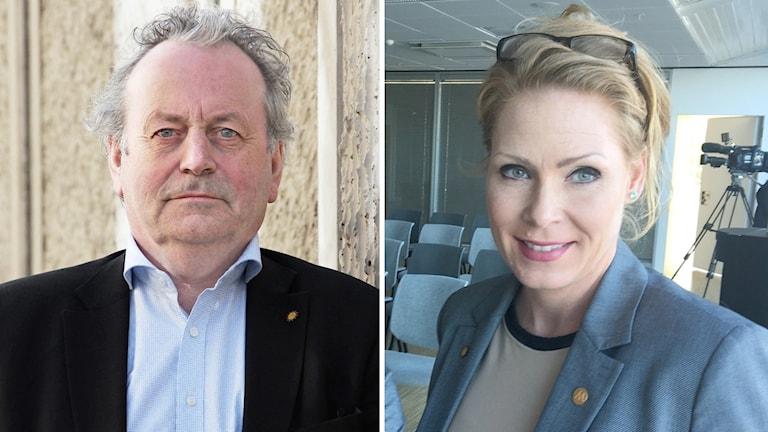 Moderaterna Per-Samuel Nisser och Marléne Lund Kopparklint. Foto: Sveriges Radio.
