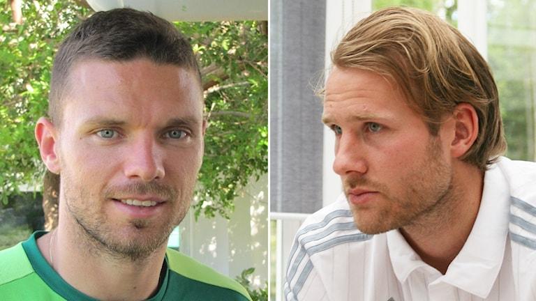 Marcus Berg och Ola Toivonen. Foto: Magnus Hermansson/Sveriges Radio.