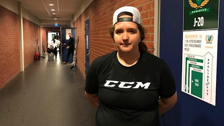 Josefin Lindström och Färjestad hade lekstuga mot Västerås. Foto: Daniel Viklund/ Sveriges Radio.
