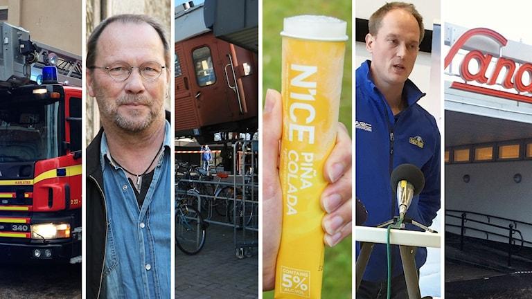 Räddningstjänstfordon, HG Storm, tågolycka, alkoglass, Glenn Olsson och Sandgrund. Foto: Sveriges Radio.