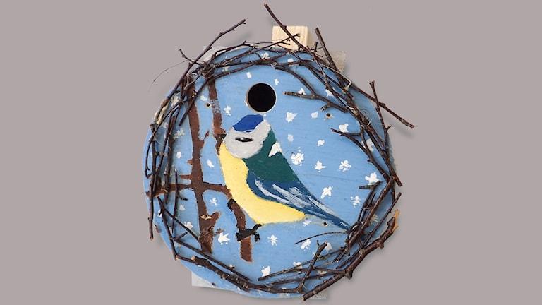 Fågelholk gjord av Norrstrandskolan 5c