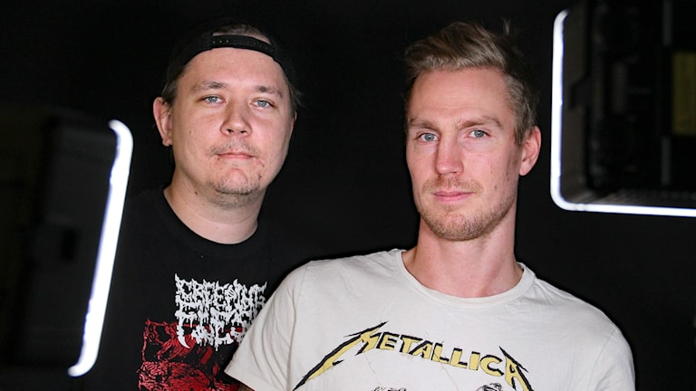Dennis Eriksson och Petter Hjerpe. Foto: Lars-Gunnar Olsson/Sveriges Radio