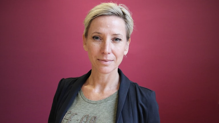 Linda Häggkvist, förlossningspedagog. Foto: Lars-Gunnar Olsson/Sveriges Radio.