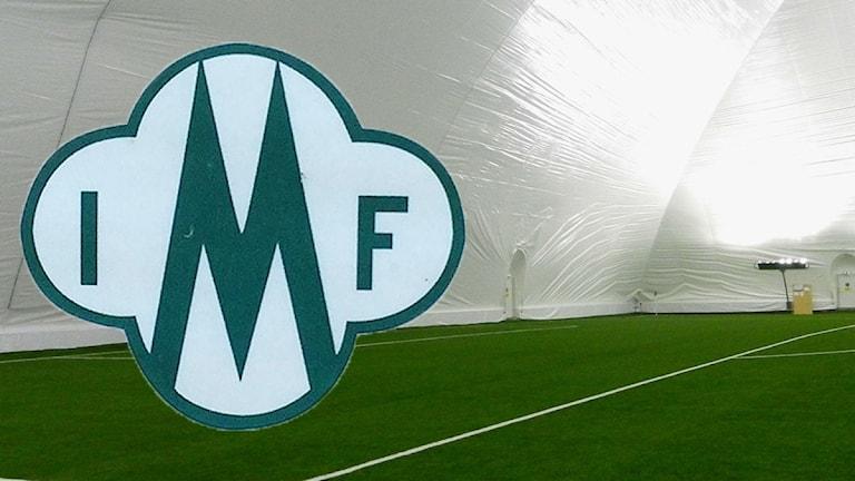 Mallbackens klubbmärke, interiör från Karlstad Airdome