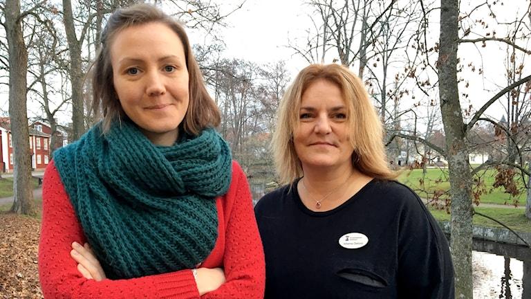 Klara Tufvesson och Johanna Pettersson Östlund. Fotograf: Sara Johansson/Sveriges Radio