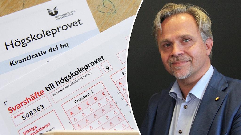 Ett prov på ett bord, Niklas Wikstrm (L). Foto: Henrik Montgomery/TT och Amanda Moln/Sveriges Radio.