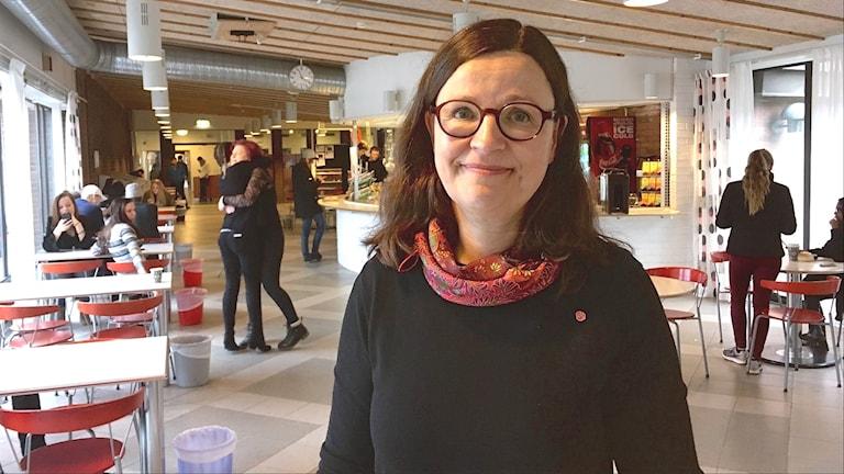 Gymnasieminister Anna Ekström. Foto: Annika Ström/Sveriges Radio.