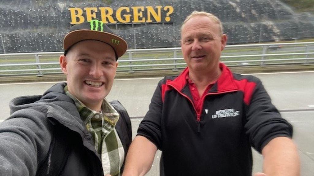 rallycrossföraren Andreas Bakkerud och supportern Terje Andersen.