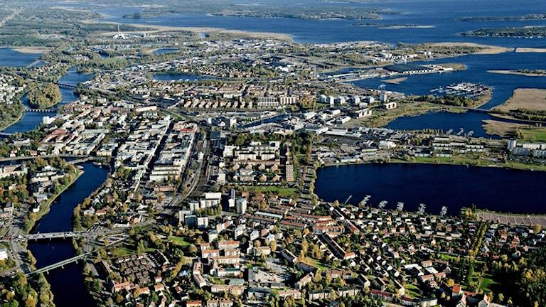 Flygfoto över Karlstad Foto: Karlstad kommun