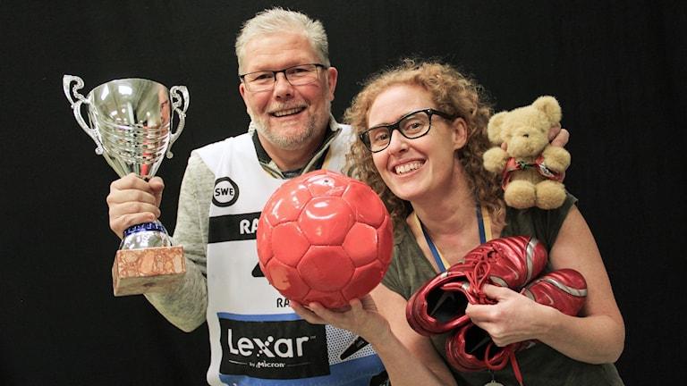 Mats Fagerström och Mari Stenström. Foto: Lars-Gunnar Olsson/Sveriges Radio.
