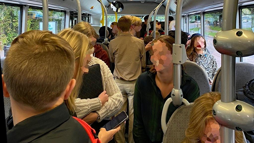 Packad buss i Karlstad. Foto: Vilda Hamsch.