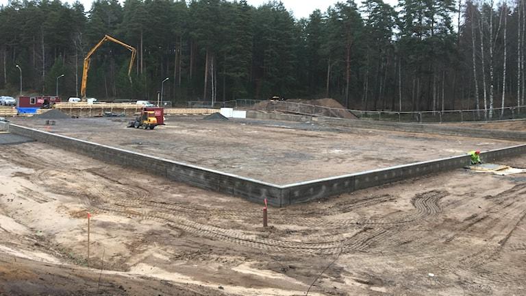 En byggarbetsplats. Foto: Jonas Berglund/Sveriges Radio.