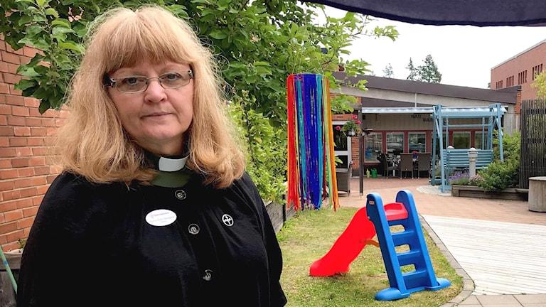 Anna-Karin Berglind, diakon på sjukhuskyrkan i Karlstad. Foto: Annika Ström/Sveriges Radio