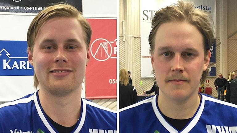 Adam och Tom Colling. Foto: Daniel Viklund/Sveriges Radio.