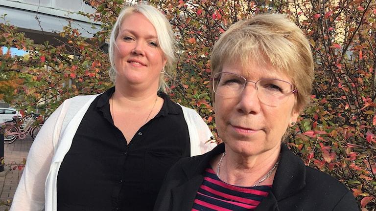 Vera Alstermark och Anne Hölmebakk. Foto: Sara Johansson/Sveriges Radio.