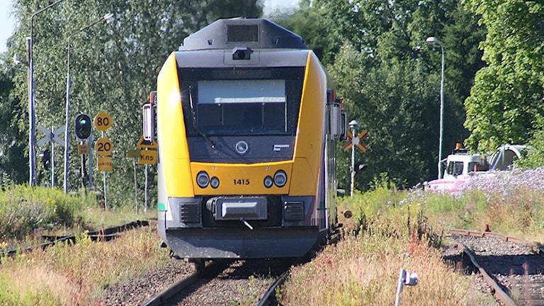 Tåg på väg in mot Sunne station. Foto: Värmlandstrafik.