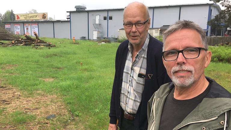 Svend Kofod Pedersen och Harald Holth, boende i Eda Glasbruk