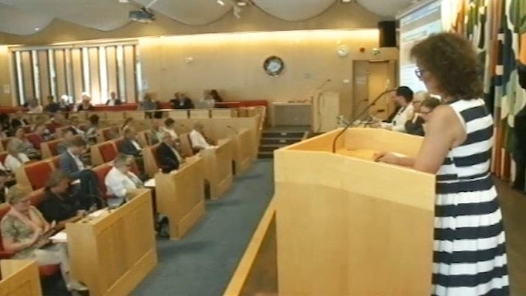 Mötessal. Foto: Karlstads kommuns webb-tv.