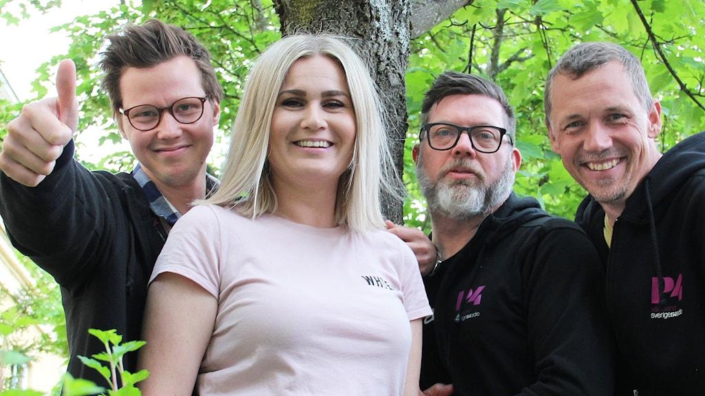 Robert Ojala, Sara Johansson, Bengt Höglind och Per Larsson. Foto: Lars-Gunnar Olsson/Sveriges Radio.