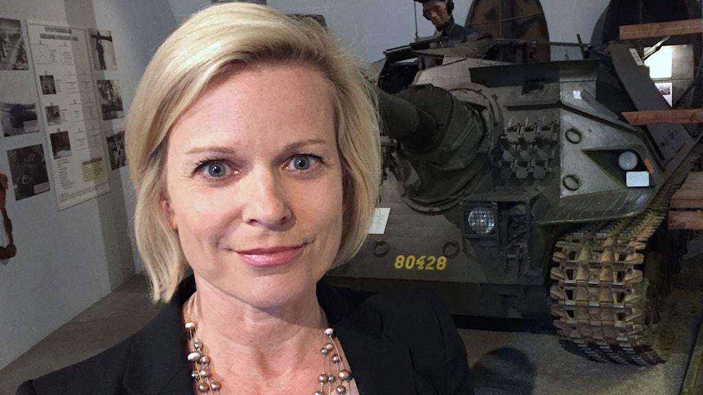 Anna Wieslander. Foto: Robert Ojala/Sveriges Radio.