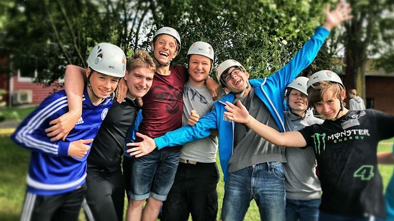 Elever på det danska projektet Drengeakademins sommarläger. Foto: Løkkefonden.
