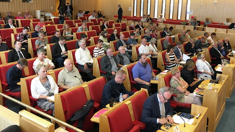 Fullmktigeledamöter i Karlstad. Foto: Magnus Hermansson/Sveriges Radio.