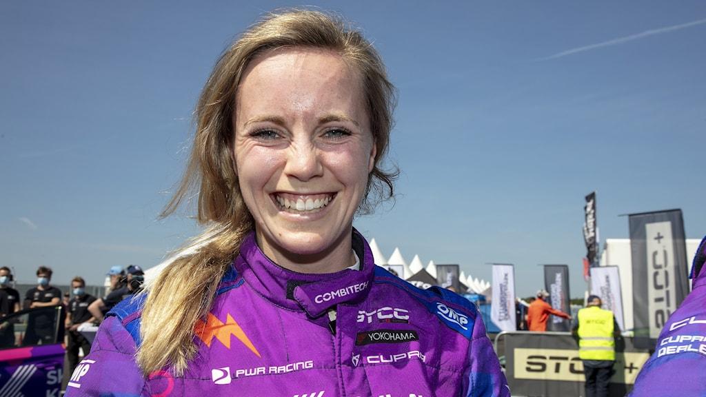 kvinna i racingdräckt. Foto: Micke Fransson/TT