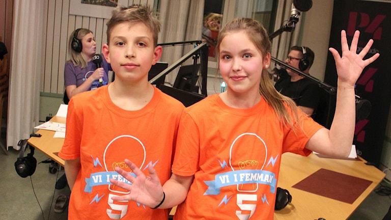 Gustav Possul och Malin Larsson. Foto: Lars-Gunnar Olsson/Sveriges Radio.